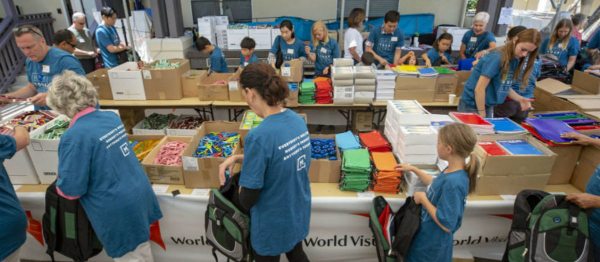 Menlo Church celebrates assembling the 1 millionth kit